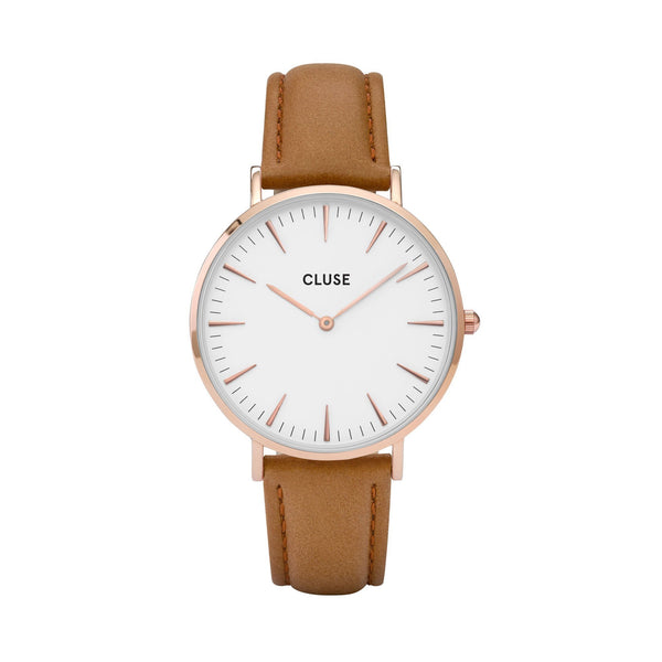 CLUSE LA BOHEME ROSE GOLD WHITE/CARAMEL WATCH