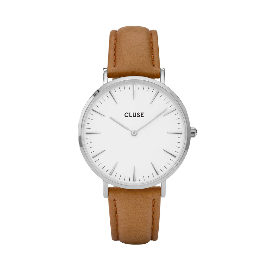 LA BOHEME SILVER WHITE/CARAMEL WATCH