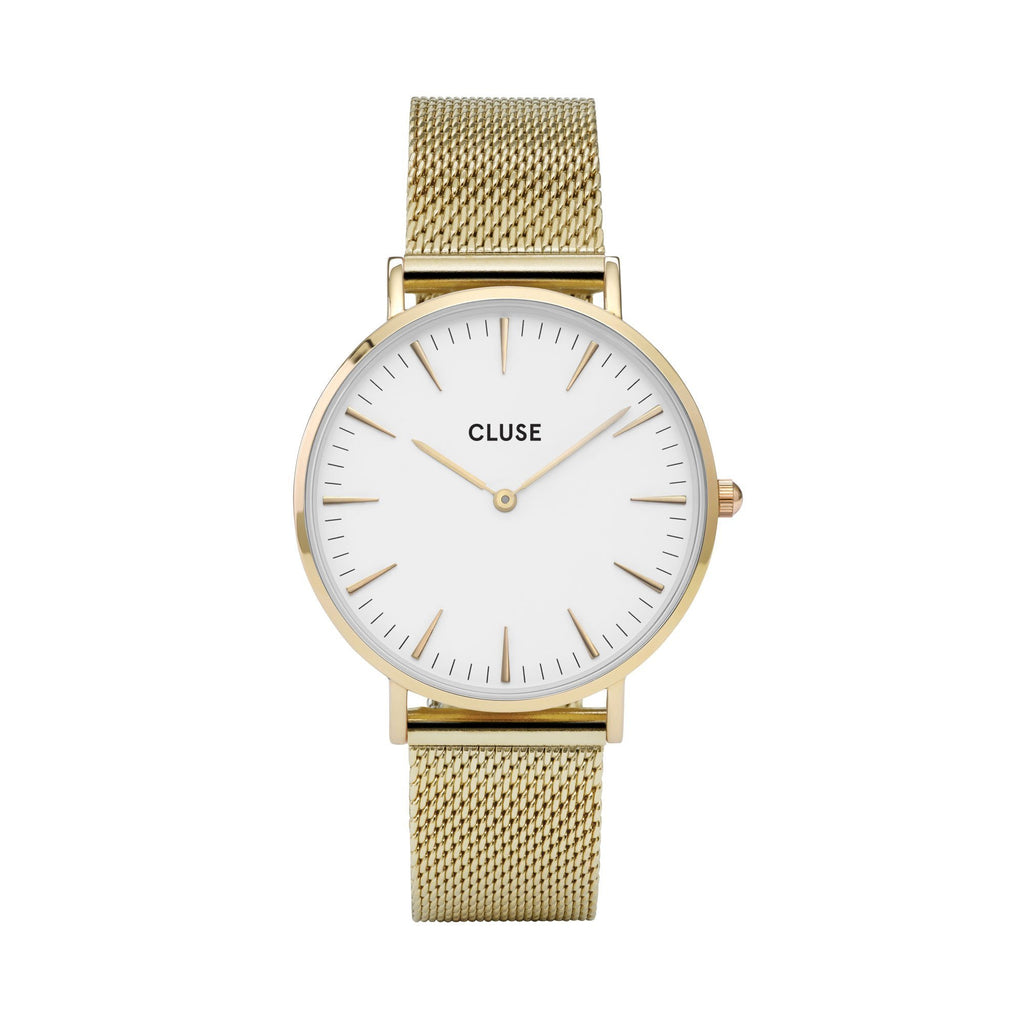 CLUSE LA BOHEME GOLD/WHITE WATCH