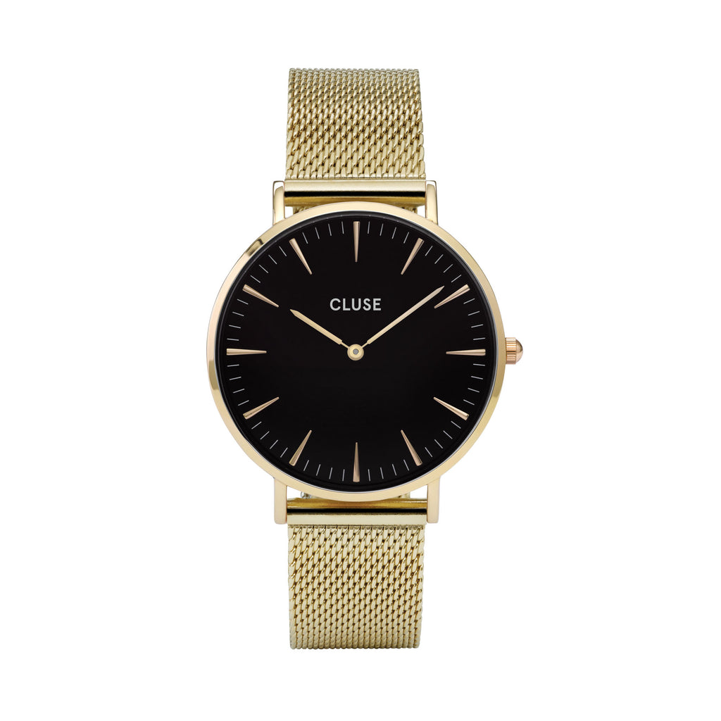 CLUSE LA BOHEME GOLD/BLACK WATCH