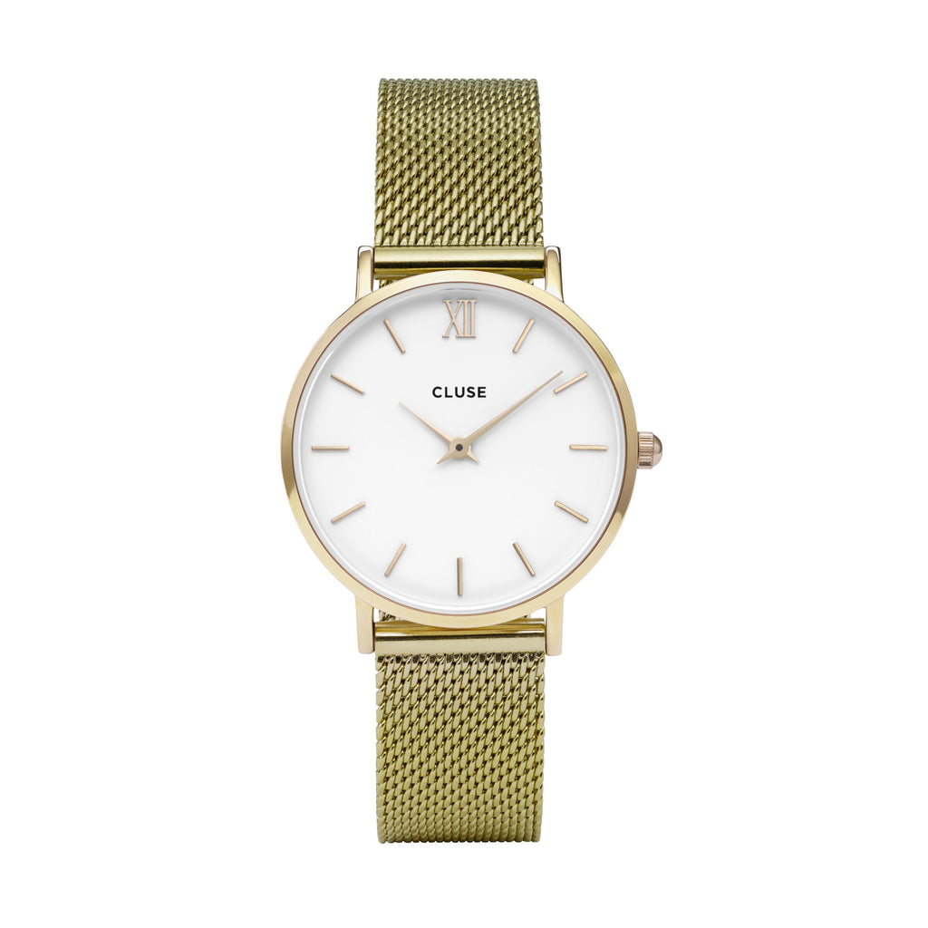 CLUSE MINUIT GOLD /WHITE WATCH