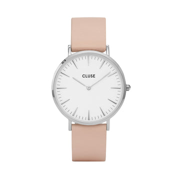 BOHO CHIC SILVER WHITE/NUDE WATCH