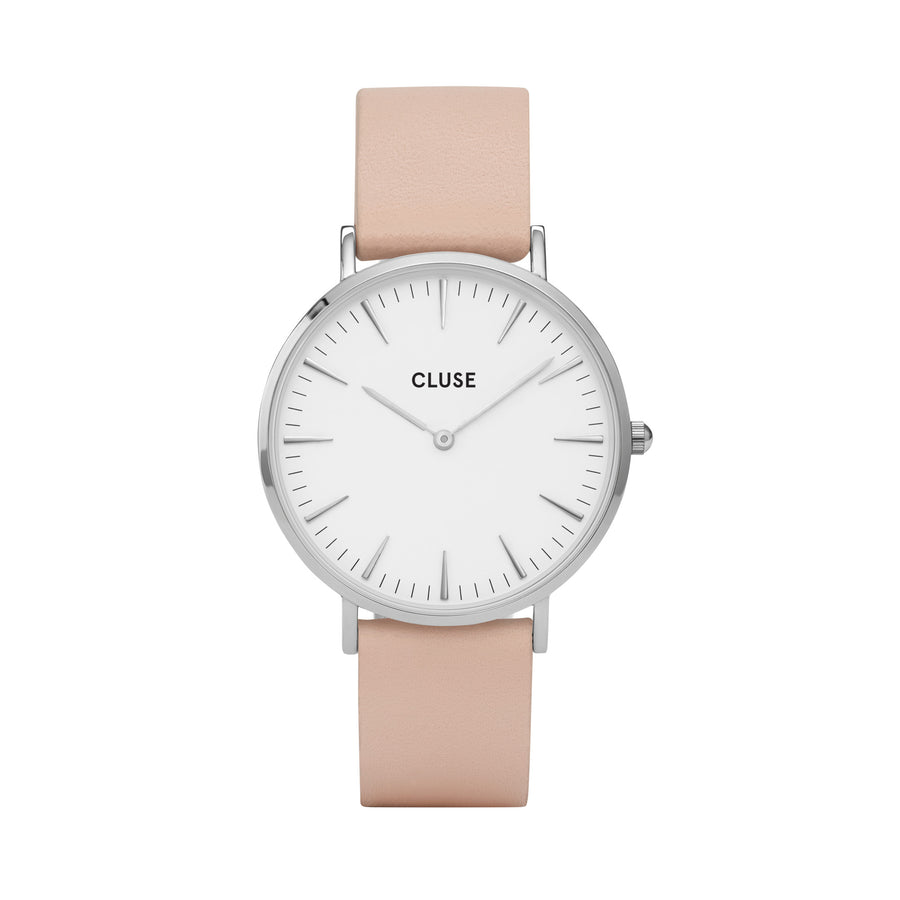LA BOHEME SILVER WHITE/NUDE WATCH