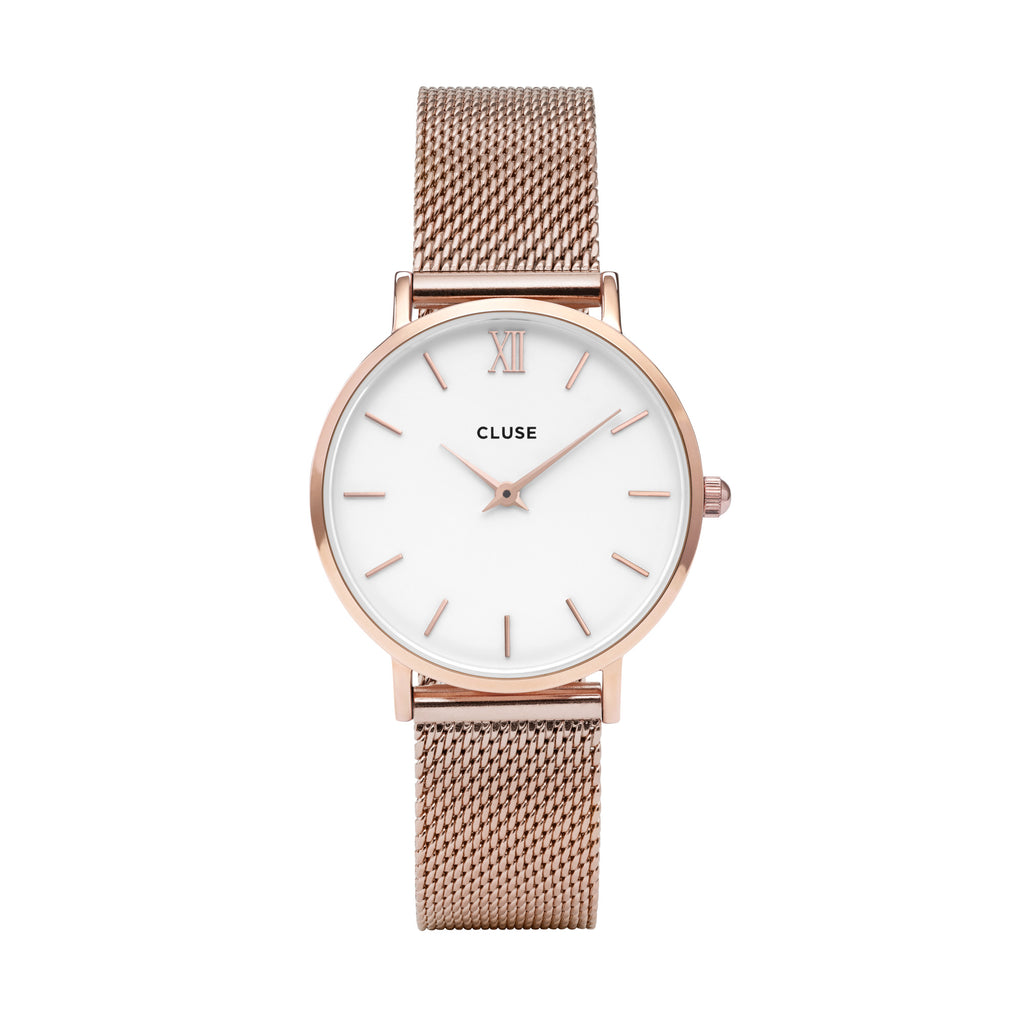CLUSE MINUIT ROSE GOLD/WHITE WATCH