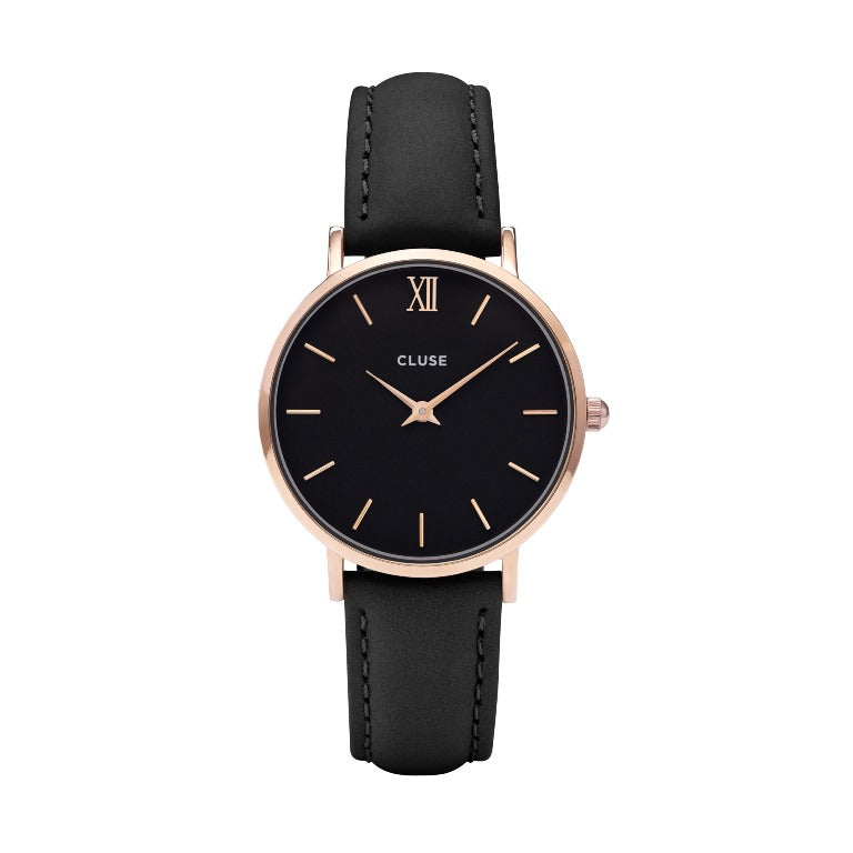 CLUSE MINUIT ROSE GOLD BLACK/BLACK WATCH