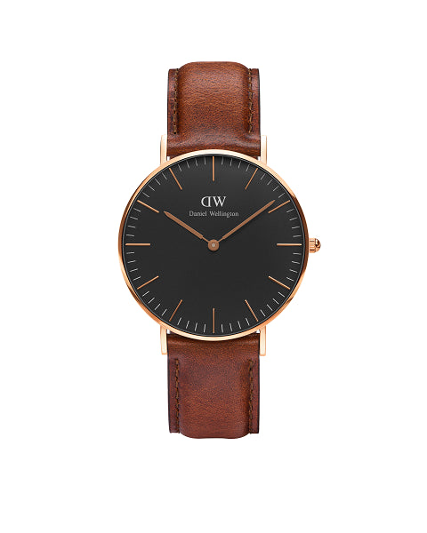 DANIEL WELLINGTON CLASSIC BLACK ST MAWES WATCH - RRP$279