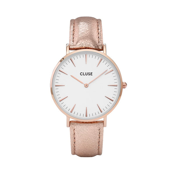 CLUSE LA BOHEME ROSE GOLD WHITE/RG METALLIC WATCH