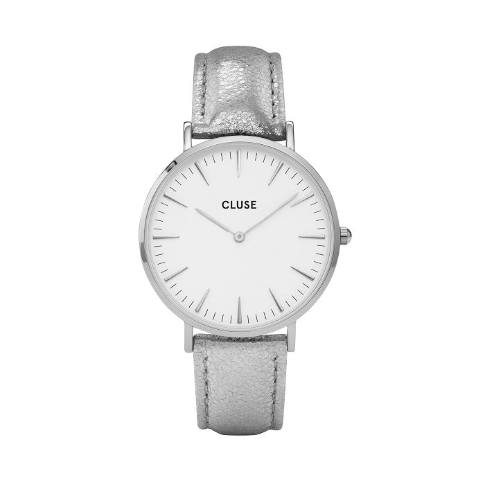 CLUSE LA BOHEME SILVER WHITE/SILVER METALLIC WATCH