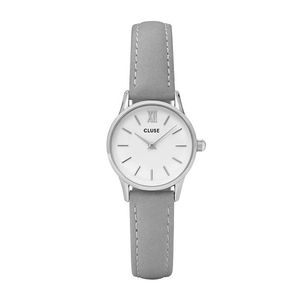 CLUSE LA VEDETTE SILVER WHITE/GREY WATCH