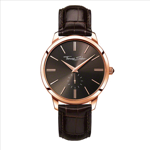THOMAS SABO GLAM ROSE BROWN LEATHER WATCH
