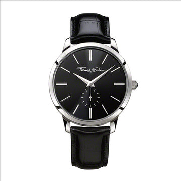 CLASSIC LEATHER BRACELET BLACK DIAL WATCH