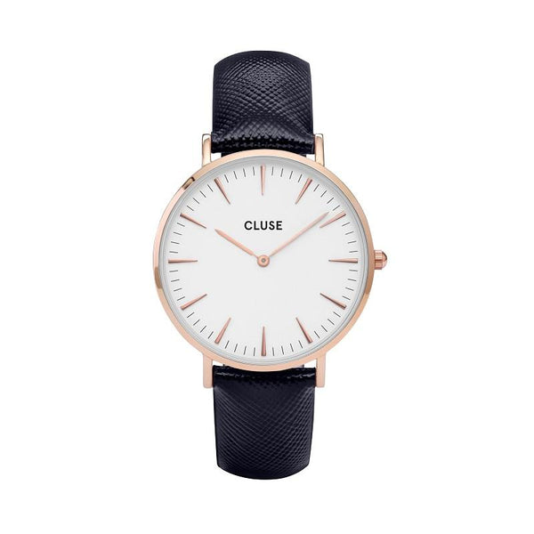 CLUSE LA BOHEME ROSE GOLD WHITE/MIDNIGHT BLUE