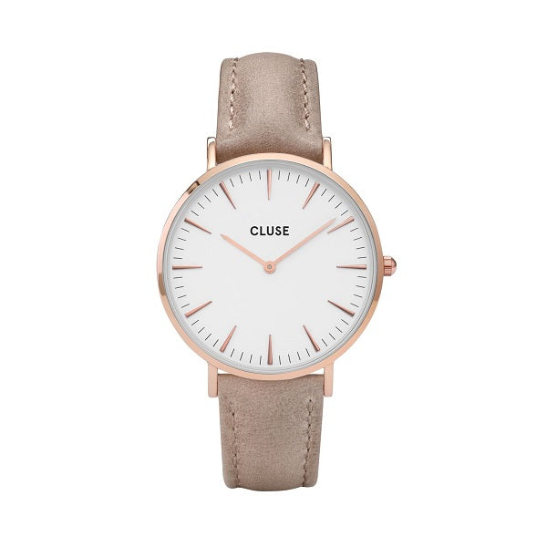 CLUSE LA BOHEME ROSE GOLD WHITE/HAZELNUT WATCH