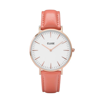 CLUSE LA BOHEME ROSE GOLD WHITE/FLAMINGO WATCH