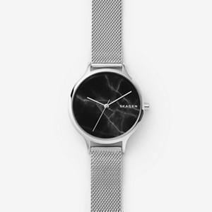ANITA STEEL-MESH MARBLE WATCH