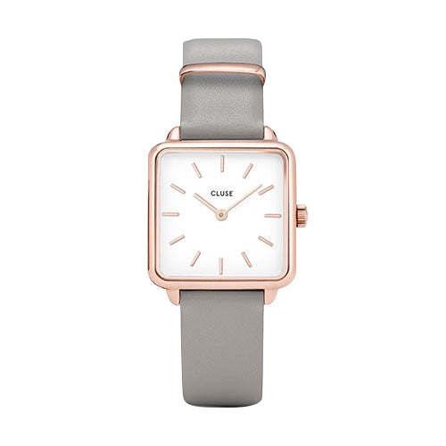 CLUSE LA TETRAGONE ROSE GOLD WHITE/GREY WATCH
