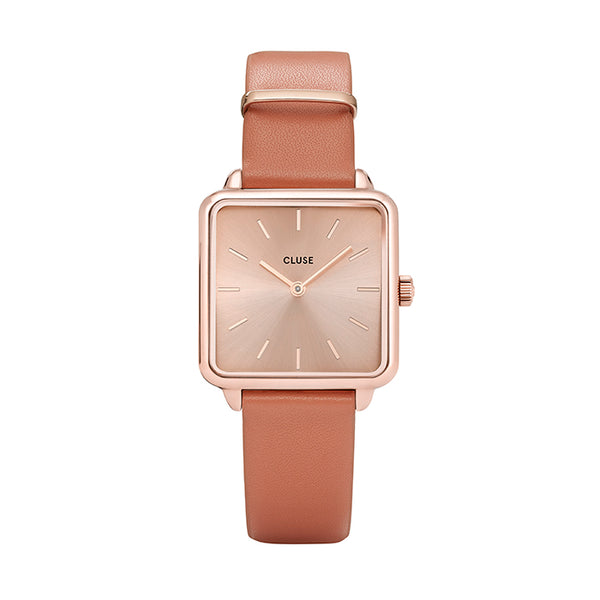CLUSE LA TETRAGONE ROSE GOLD/BUTTERSCOTCH