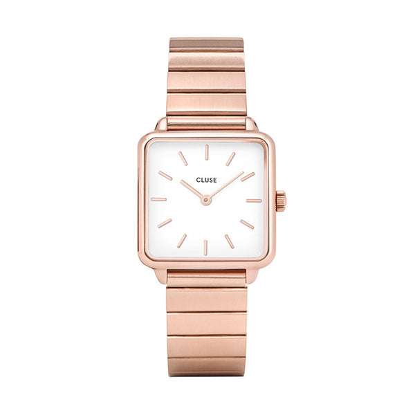 CLUSE LA TETRAGONE SINGLE LINK ROSE GOLD WHITE
