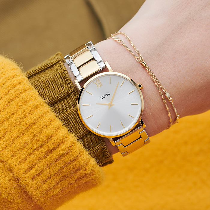 MINUIT GOLD SILVER/GOLD TWO TONE LINK