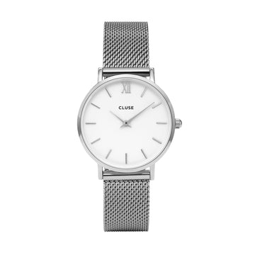 MINUIT SILVER/WHITE WATCH