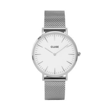BOHO CHIC SILVER/WHITE WATCH
