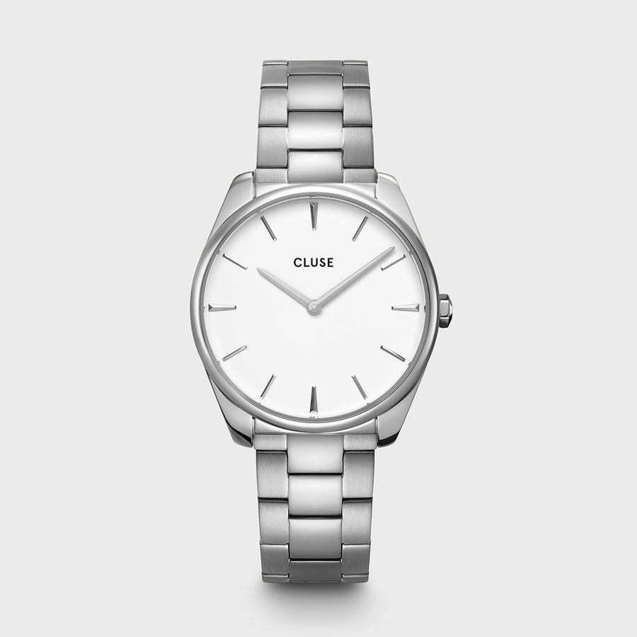 FEROCE SILVER/WHITE WATCH