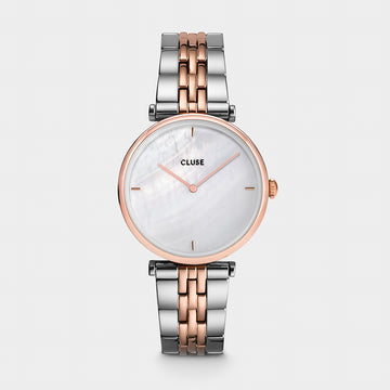 TRIOMPH ROSE/SILVER PEARL WATCH