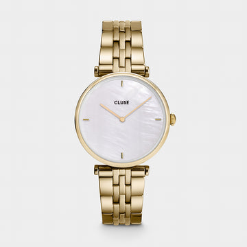 YELLOW GOLD TRIOMPH PEARL WATCH