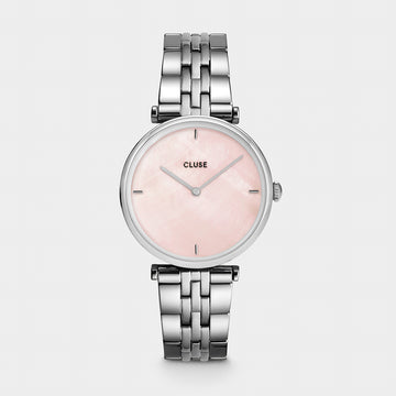 SILVER TRIOMPH PINK PEARL WATCH