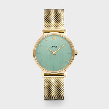 MINUIT GOLD/STONE GREEN WATCH
