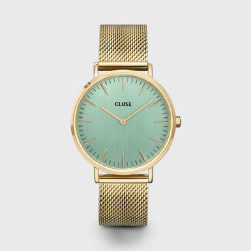 LA BOHEME GOLD/STONE GREEN WATCH
