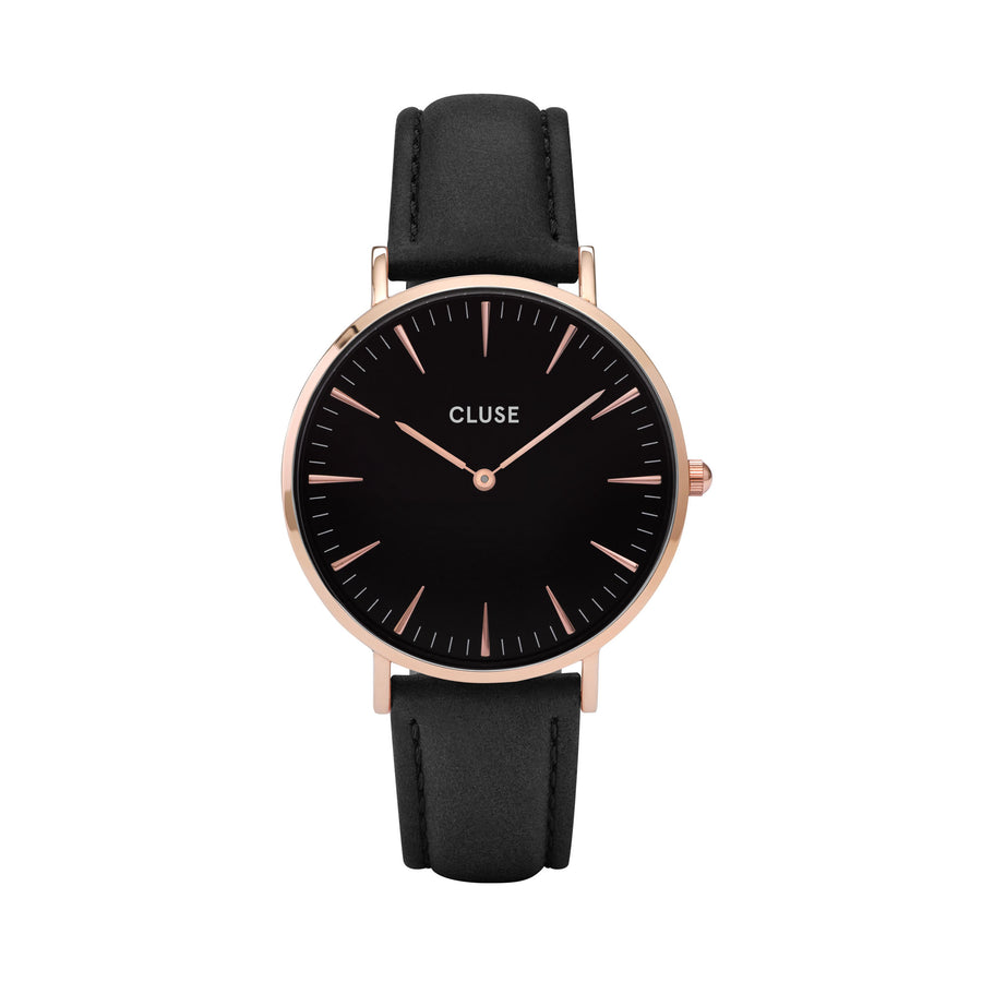 BOHO CHIC ROSE GOLD BLACK/BLACK WATCH