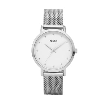 CLUSE PAVANE SILVER/WHITE WATCH