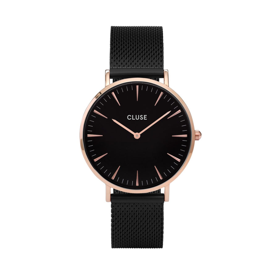 LA BOHEME MESH ROSE GOLD BLACK/BLACK WATCH