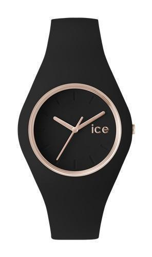 ICE GLAM BLACK ROSE GOLD UNI WATCH