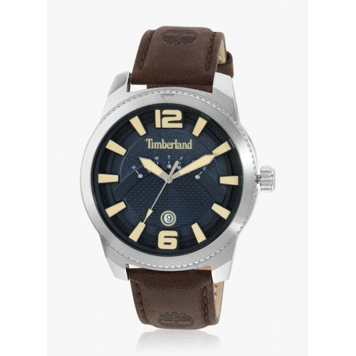 TIMBERLAND ROWLEY SILVER/BLUE | BROWN WATCH