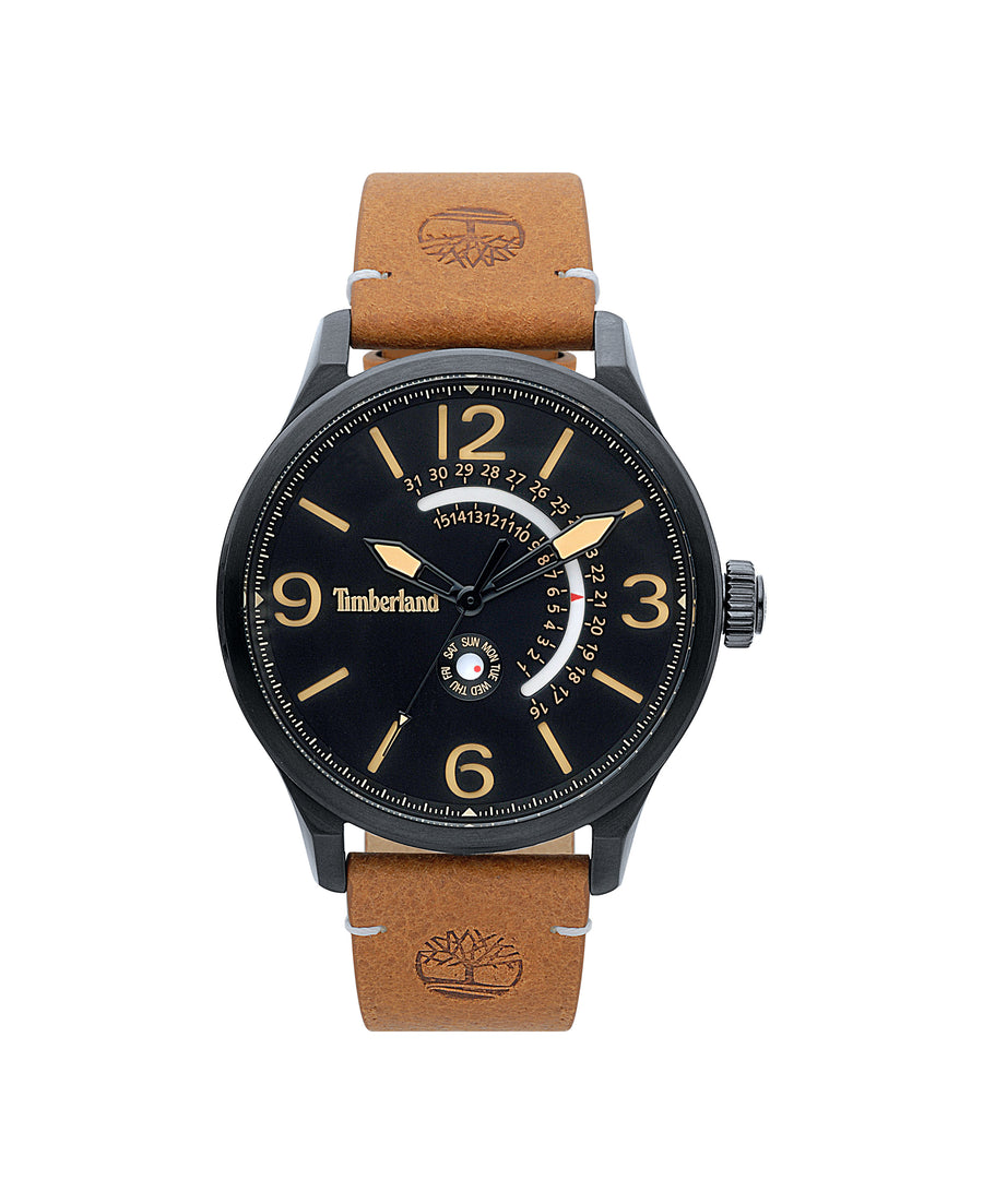 TIMBERLAND HOLLACE BLACK/BLACK | TAN WATCH