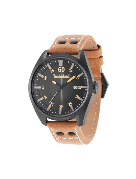 TIMBERLAND BELLINGHAM BLACK/BLACK | TAN WATCH