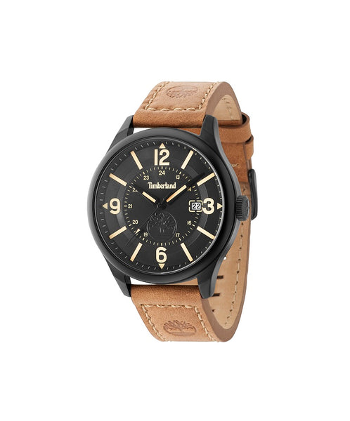 TIMBERLAND BLAKE BLACK/BLACK | TAN WATCH