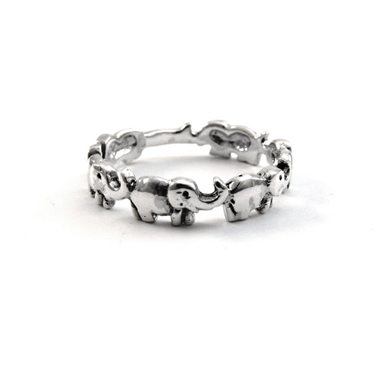 SILVERGIRL ELEPHANT BAND RING