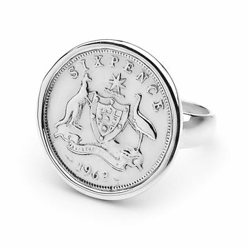 SIXPENCE COIN RING
