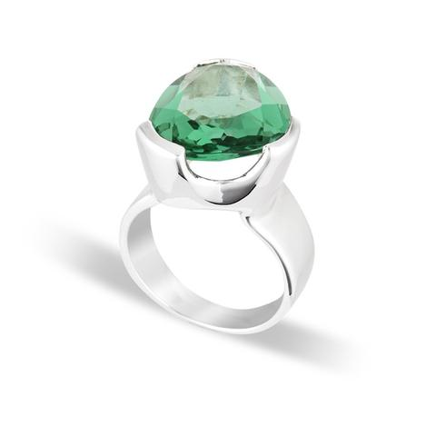 UBERKATE GREEN AMETHYST COCKTAIL RING