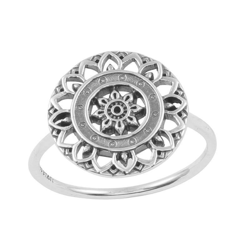 MIDSUMMER STAR MANDALA DISC RING