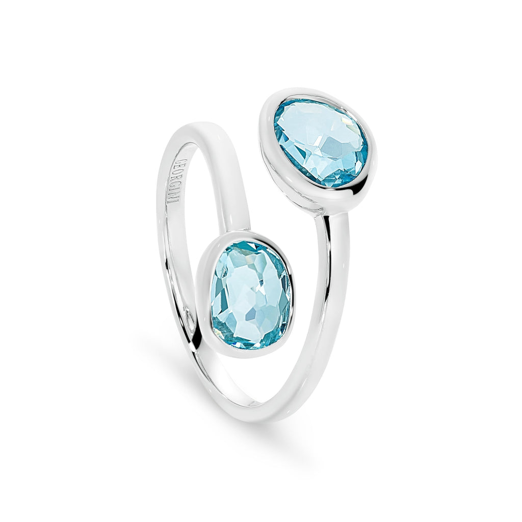 GEORGINI SEMI PRECIOUS BLUE TOPAZ RING