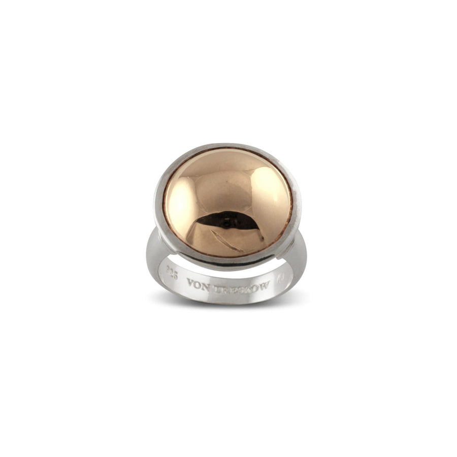 YELLOW GOLD DOME RING