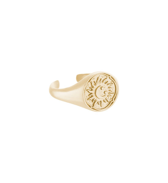 KIRSTIN ASH GOLDEN SUN SIGNET RING