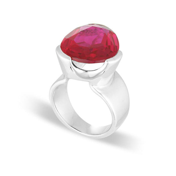 UBERKATE RUBY RED CORUNDUM COCKTAIL RING