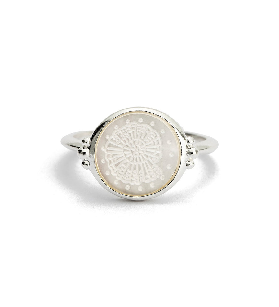 X OLIVE COOKE | BY THE SEA FOSSIL SHELL RING