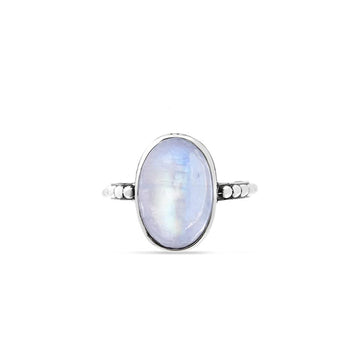 WHITE LAKES MOONSTONE RING