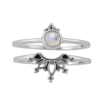 WONDERLAND MOONSTONE RING SET